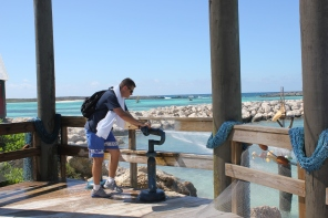 Top 10 Photo Opportunities on Disney's Castaway Cay  - Water jets near Pelicans Plung