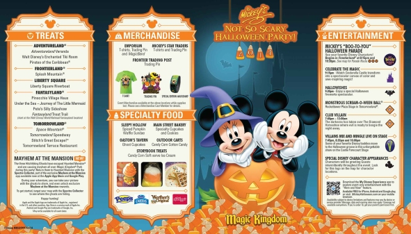 Mickey's Not-So-Scary Halloween Party 2014 Map