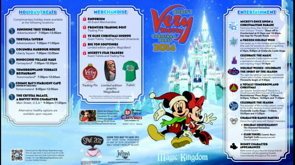 Mickey's Very Merry Christmas Party 2014 Event Park Map