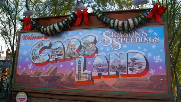 Cars Land During the Holidays
