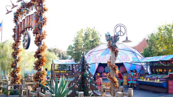 Disney's Cars Land During the Holidays