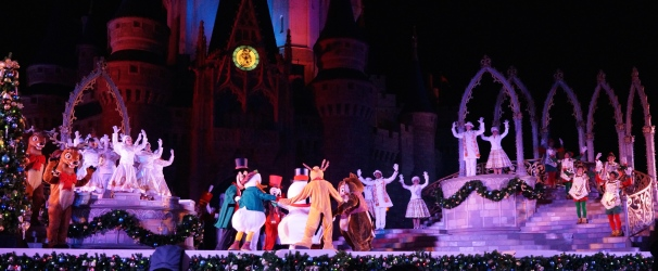 Celebrate the Season Castle Show at the Magic Kingdom