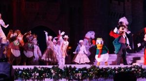 Celebrate the Season Castle Show at the Magic Kingdom